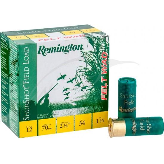 Патрон Remington Shurshot Field felt wad кал.12 / 70 дробь №5 (2,9мм) навеска 32г